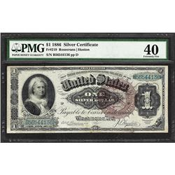 1886 $1 Martha Washington Silver Certificate Note Fr.219 PMG Extremely Fine 40