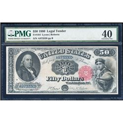 1880 $50 Legal Tender Note Fr.164 PMG Extremely Fine 40