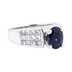 18KT White Gold 3.30 ctw Sapphire and Diamond Ring