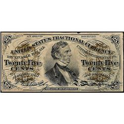 March 3, 1863 25 Cents Third Issue Fractional Currency Note