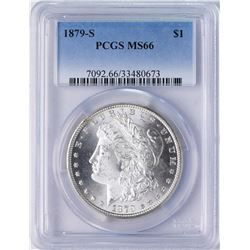 1879-S $1 Morgan Silver Dollar Coin PCGS MS66