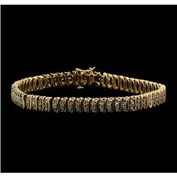 14KT Yellow Gold 2.00 ctw Diamond S-Link Style Bracelet