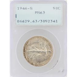 1946-S Walking Liberty Half Dollar Silver Coin PCGS MS63 Rattler