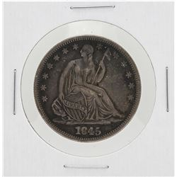 1845-O No Drapery Seated Liberty Half Dollar Coin