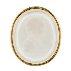 14KT Yellow Gold Cameo Pendant