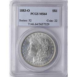 1883-O $1 Morgan Silver Dollar Coin PCGS MS64
