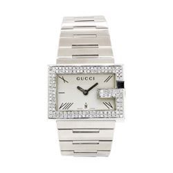 Gucci Stainless Steel and Diamond Logo Wristwatch
