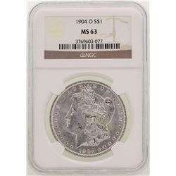 1904-O $1 Morgan Silver Dollar Coin NGC MS63