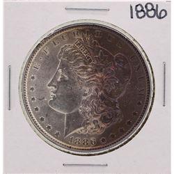 1886 $1 Morgan Silver Dollar Coin Amazing Toning