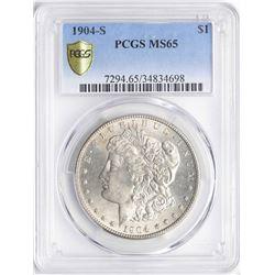 1904-S $1 Morgan Silver Dollar Coin PCGS MS65