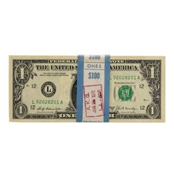 Pack of (100) Consecutive 1969B $1 Federal Reserve Notes San Francisco