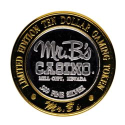 .999 Silver Mr. B's Casino Mill City, NV $10 Casino Limited Edition Gaming Token