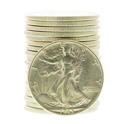 Roll of (20) 1945 Walking Liberty Half Dollar Coins