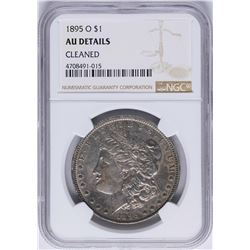1895-O $1 Morgan Silver Dollar Coin NGC AU Details