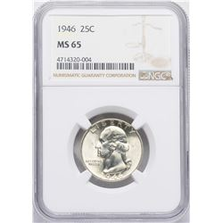 1946 Washington Quarter Coin NGC MS65
