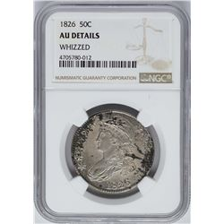 1826 Capped Bust Half Dollar Coin NGC AU Details