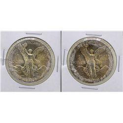 Lot of (2) 1983Mo Mexico Silver Libertad Coins