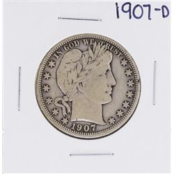1907-D Barber Half Dollar Coin