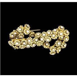 18KT Yellow Gold 1.50 ctw Diamond Brooch
