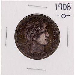 1908-O Barber Half Dollar Silver Coin