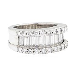 Platinum 2.45 ctw Diamond Wedding Band