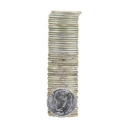Roll of (50) 1961 Brilliant Uncirculated Roosevelt Dimes