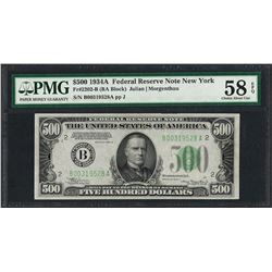 1934A $500 Federal Reserve Note New York Fr.2202-B PMG Choice About Unc 58EPQ
