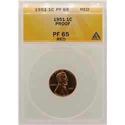 1951 Lincoln Wheat Cent Proof Coin ANACS PF65RD