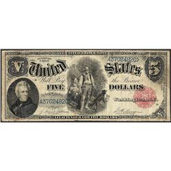 1880 $5 Woodchopper Legal Tender Note