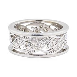 14KT White Gold 0.60 ctw Diamond Eternity Band