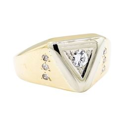 14KT Yellow Gold 0.30 ctw Diamond Ring