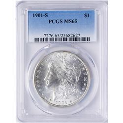 1901-S $1 Morgan Silver Dollar Coin PCGS MS65