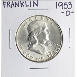 1953-D Franklin Half Dollar Coin