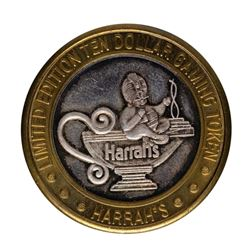 .999 Silver Harrah's Casino Reno, Nevada $10 Casino Limited Edition Gaming Token