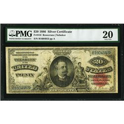 1886 $20 Diamond Back Silver Certificate Note Fr.316 PMG Very Fine 20