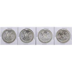 Lot of (2) 1982Mo & (2) 1983Mo Mexico Silver Libertad Coins
