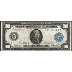 1914 $100 Federal Reserve Note Atlanta