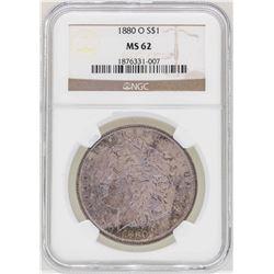 1880-O $1 Morgan Silver Dollar Coin NGC MS62 Amazing Toning