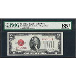 1928C $2 Legal Tender Note Fr.1504 PMG Gem Uncirculated 65EPQ
