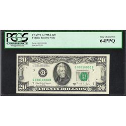 1988A $20 Federal Reserve Note Fr.2076-G PCGS Very Choice New 64PPQ Fancy Serial