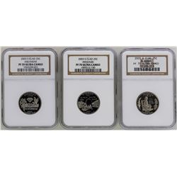 Lot of (3) 2003-S State Proof Quarter Coins NGC PF70 Ultra Cameo