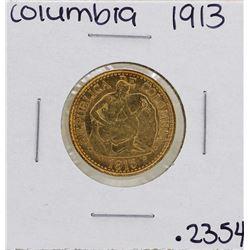 1913 Columbia 5 Pesos Gold Coin