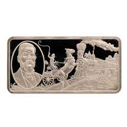 500 Grain Sterling Silver Franklin Mint 100 Greatest Americans Ingot