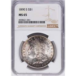 1890-S $1 Morgan Silver Dollar Coin NGC MS65
