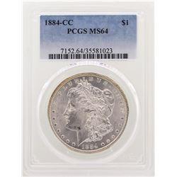 1884-CC $1 Morgan Silver Dollar Coin PCGS MS64