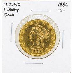 1886-S $10 Liberty Head Eagle Gold Coin