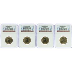 Lot of (4) 2007-P George Washington Presidential Dollar Coins NGC MS65 FDOI