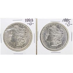 Lot of 1883-O & 1885-O $1 Morgan Silver Dollar Coins