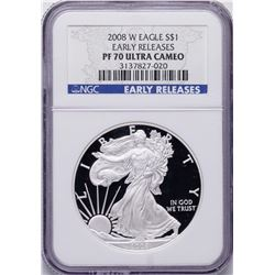 2008-W $1 American Silver Eagle Proof Coin NGC PF70 Ultra Cameo Early Releases