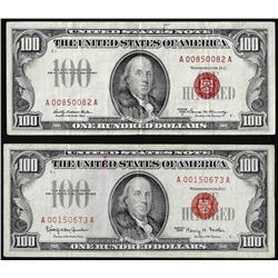 Lot of 1966 & 1966A $100 Legal Tender Notes